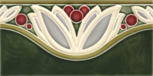 Wall Border Tile Art Nouveau Flowerwave Von Replicata