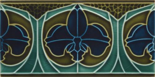 Wall border tile Art Nouveau flowerwave« von Replicata - 150 x 75 x ...