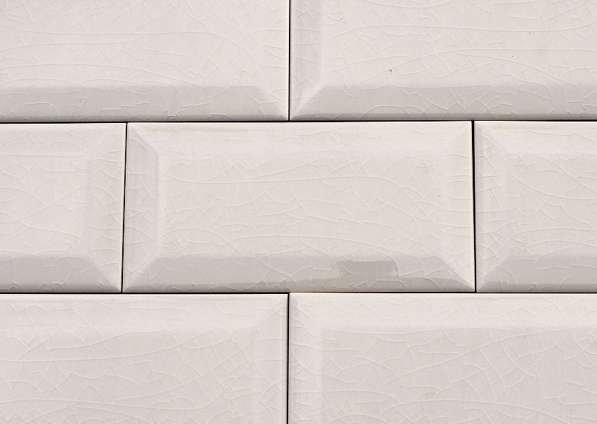 Wall Tile Metro Von Replicata Cream Coloured Craquelling Glaze
