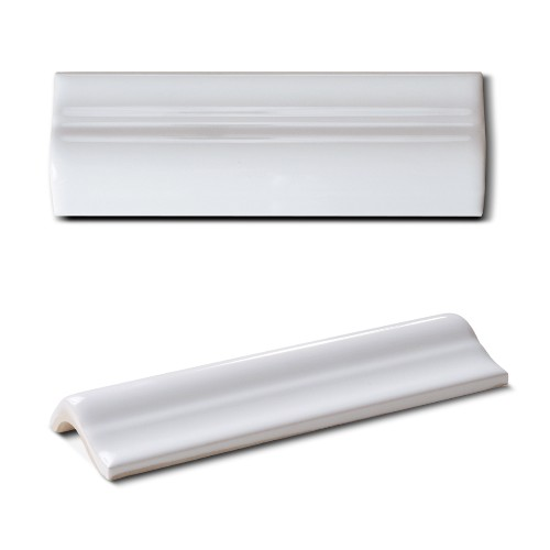Border Tile Metro Von Replicata Round Design Colour White