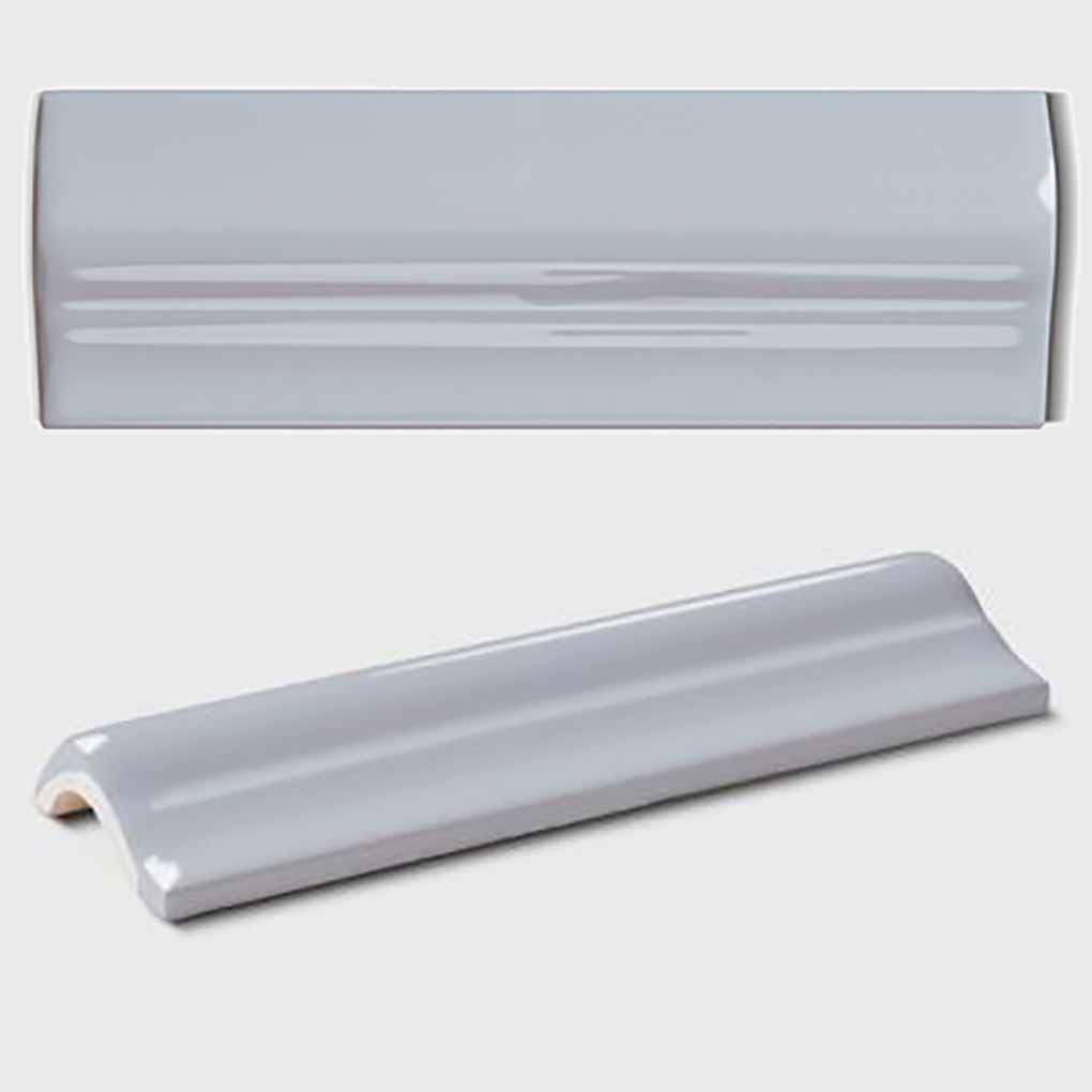 Border tile METRO round design« von Replicata - light grey opaque ...