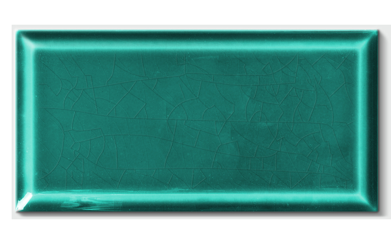 Wall tile METRO« von Replicata - turquoise craquelling glaze - Replikate