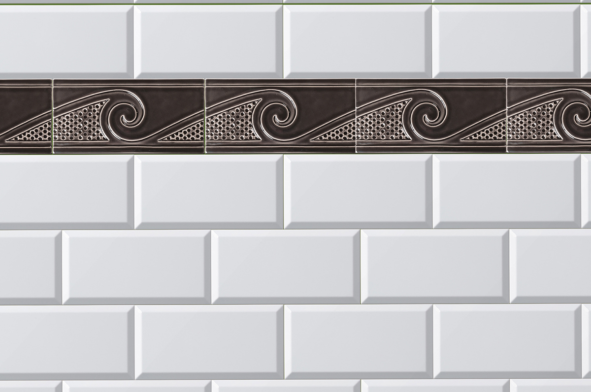 Rectangular tile size 10 x 20 cm by replicata well formed wall tile metro einbaubeispiel image title example of installation dailygadgetfo Gallery